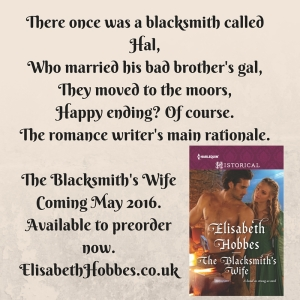 There once was a blacksmith called Hal,Who married his brother's gal,They moved to the moors,Happy ending? Of course.